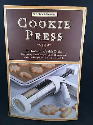 Williams Sonoma Cookie Press 18 Disks  Baking Cookies  Family Fun  Flowers