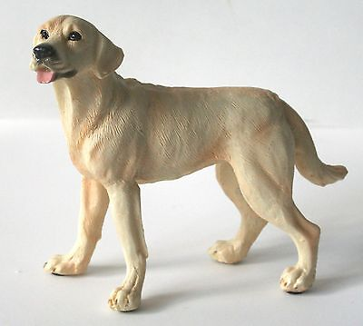 "DOG LABRADOR RETRIEVER Yellow Figurine 4"" NEW"