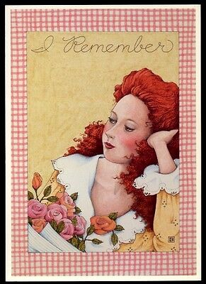 UNUSED 1991 Mary ENGELBREIT FRIENDSHIP Greeting Card I REMEMBER, I LOVE YOU +env