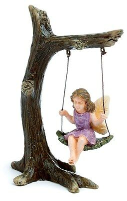 Miniature Fairy Garden Tree Branch Swing with Fairy  NOW WITH PICK MG 12