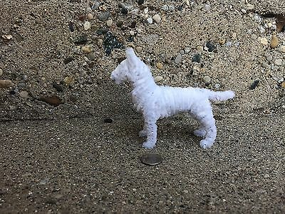 Handmade PipeCleaner Dog - Unique Design - One of a Kind - white Bull Terrier