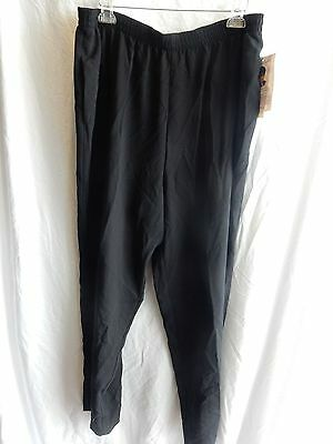 Delta Burke Lightweight Black Pants ~ Size 2X  Elastic Waist ~ New With Tags