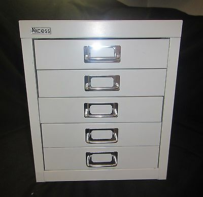 Axcess (5) Drawer Steel, Multi Drawer File Cabinet Or Desk Organizer