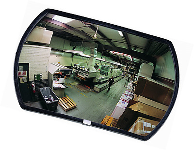 """See All RR1218 Round Rectangular Glass Indoor Convex Security Mirror, 18"""" Length"""