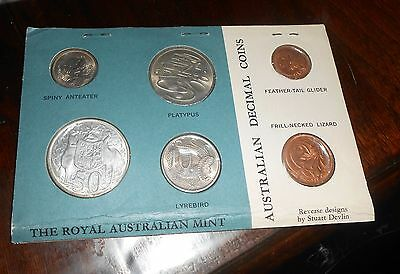 Nice Australia 1966 Unc Coin Set Sealed From Mint In Australia