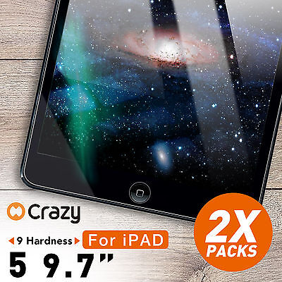 2 X Tempered Glass Screen Protector Film for Apple New iPad 5 6 9.7 inch