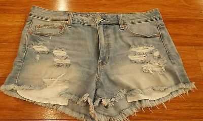 Distressed denim shorts, American Eagle women size 16.