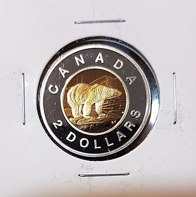 2004 $2 Canada Toonie Silver & Gold plated Proof - Uncirculated from Set