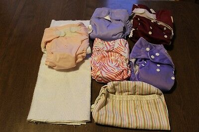 Large Lot of Cloth Diapers & Products ***PREOWNED*** US SELLER