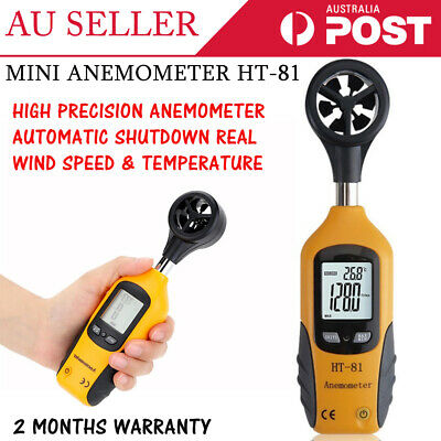 New HT-81 Handheld Thermomoter Sailing Anemometer Wind Speed Air Velocity Meter