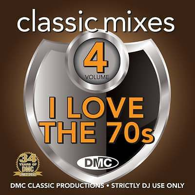 DMC Classic Mixes - I Love The 70s Megamix Vol 4 Mixed Music CD Seventies Tracks