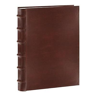 Photo Pioneer Sewn Leather Album 4X6 Cover Frame Holds 300 Photos Brown Pioneer