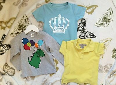 Baby Boys Tops M&S And H&M 12-18 Months
