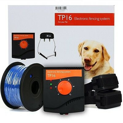 Waterproof Electric Dog Fence System Collar Hidden Fencing Containment Deluxe