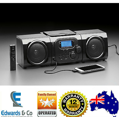 Micro System CD Stereo Player Portable AM/FM Radio LCD Component Speaker Stereo