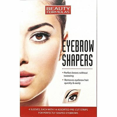 2x 56 Beauty Formulas Eyebrow Shapers Assorted Pre-cut Strips Eybrows Shaping