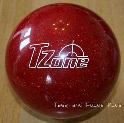 "14lb Brunswick ""Candy Apple Red"" Sparkle Polyester T-Zone Tenpin Bowling Ball"