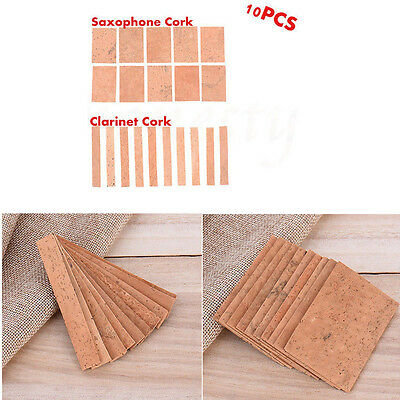 10pcs Professional Saxophone Clarinet Joint Pad Set Natural Neck Cork Sheet New