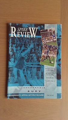 Chesterfield V Bury 1992-93