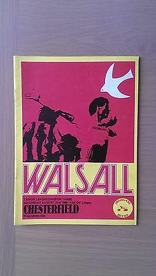 Walsall V Chesterfield 1985-86