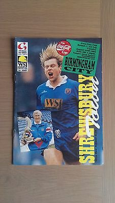 Shrewsbury Town V Birmingham City 1994-95
