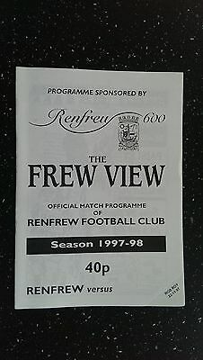 Renfrew V Rob Roy 1997-98,