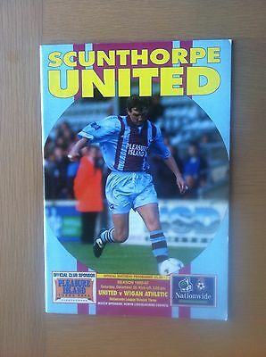 Scunthorpe United V Wigan Athletic 1996-97