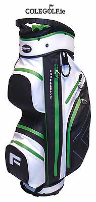"Forgan GolfDry 9.5"" Waterproof Cart Bag - White/Black/Green"
