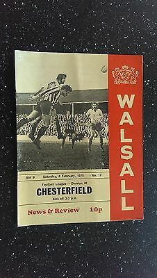 Walsall V Chesterfield 1974-75,