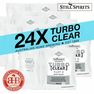 24x Still Spirits Turbo Clear BULK PACK homebrew clearing agent brewing supplies