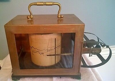 vintage short & mason london tycos copper cased thermograph  no 563014