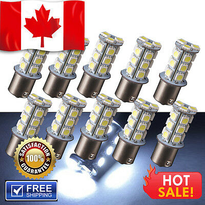 10X 1156 BA15S 5050 18 SMD LED RV Camper Trailer Bulbs Interior Light 12V White
