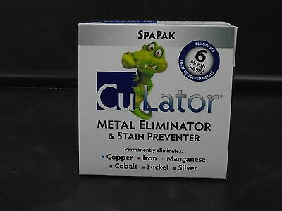 CuLator SpaPak 6 MONTH METAL ELIMINATOR & STAIN PREVENTER FOR SPAS & HOT TUBS