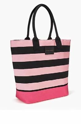 Victoria's Secret 2017 Special Limited Edition Pink Black Large Striped Tote