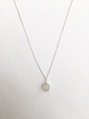 Moonstone necklace, 925 solid sterling silver and moonstone necklace, handmade