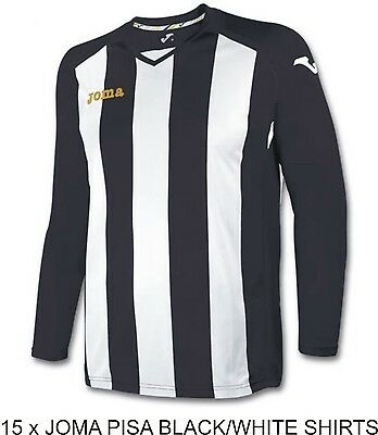 15 x JOMA PISA 12 JERSEYS - LARGE ADULT - INCLUDES NUMBERS