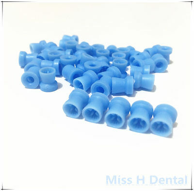 100pcs Disposable Dental Prophy Cups, Snap-On blue