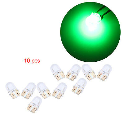 10x Green T10 COB Silicone Shell LED Car Auto Side Dashboad Plate License Light