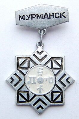 Vintage Soviet Russian Pin Badge - SPORT LOTO MURMANSK - USSR Collectable