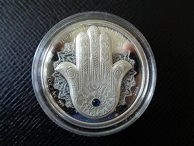 Palau 2016 $10 HAND OF FATIMA/HAMSA silver proof coin - high relief!