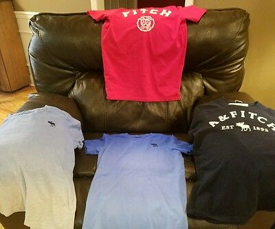 Lot of 4 Mens as Small t-shirts Abercrombie and Fitch
