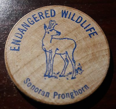 Sonoran Pronghorn. Vintage Wooden Nickel
