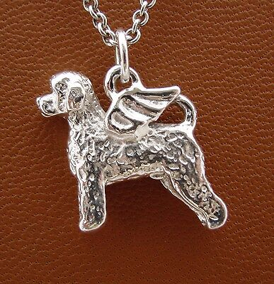 Portuguese Water Dog Angel Pendant