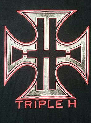Authentic 2001 WWF Triple H The Game HHH T-Shirt Sz XL WWE Wrestling Official