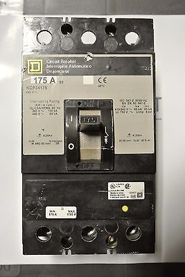 Square D KCP34175 KCP 3P 480V 175A Circuit Breaker - TESTED