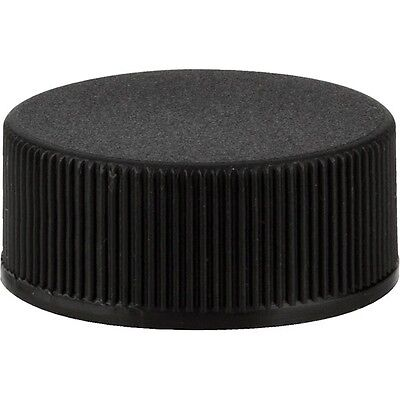 24 mm, 24/400 Polypropylene Caps with F217 Liner, Black, Ripped side: Lot 10 pcs