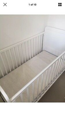 Alex Cot Bed From John Lewis White With Mattress