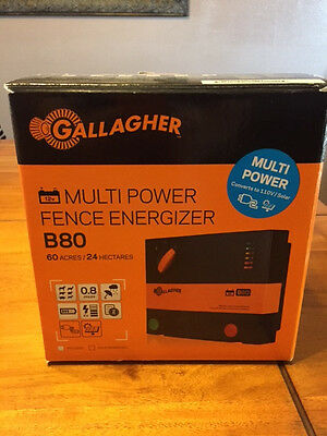 Gallagher B80 Electric Fence Charger New in Box