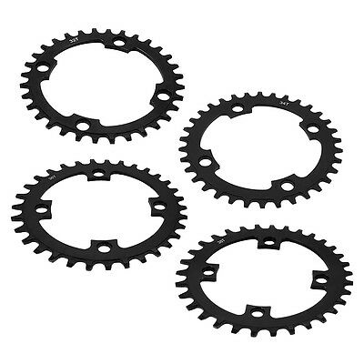 Single Tooth Narrow Wide Bike MTB Bicycle Chainring 104BCD 32T/34T/36T/38T Black