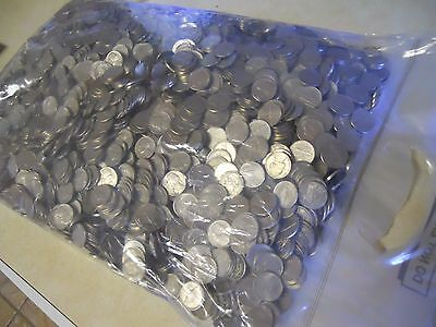 Sealed Bank bag of $200 in Unsearched Jefferson Nickels Circulated Coins. Denver
